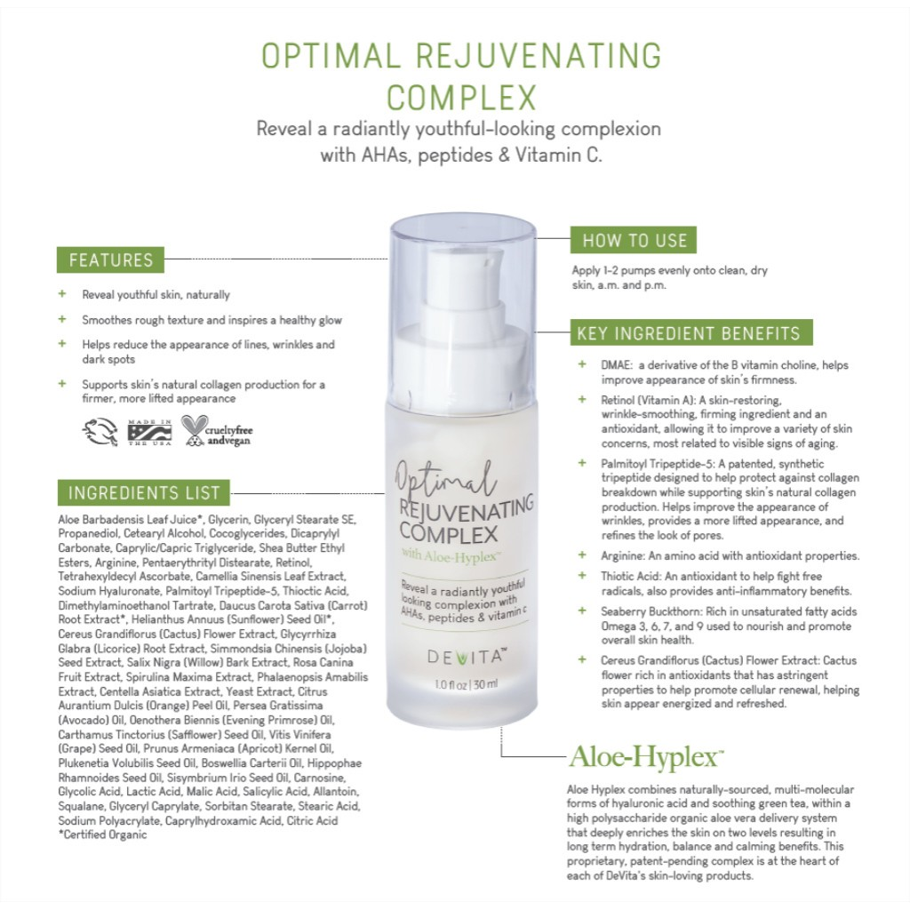 Optimal Rejuvenating Complex