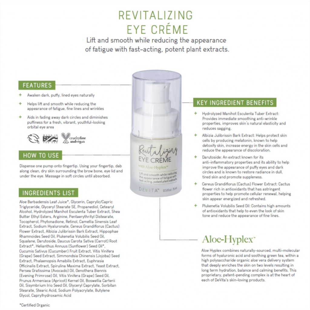 Revitalizing Eye Crème